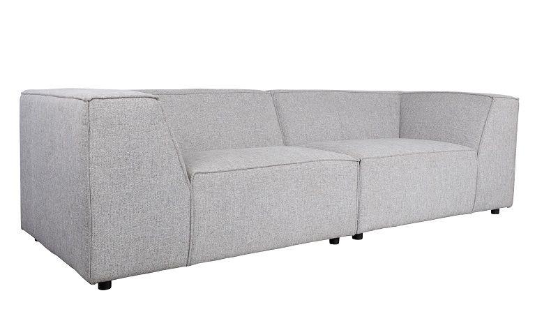 Zuiver King Sofa 3,5-pers. - Lys grå
