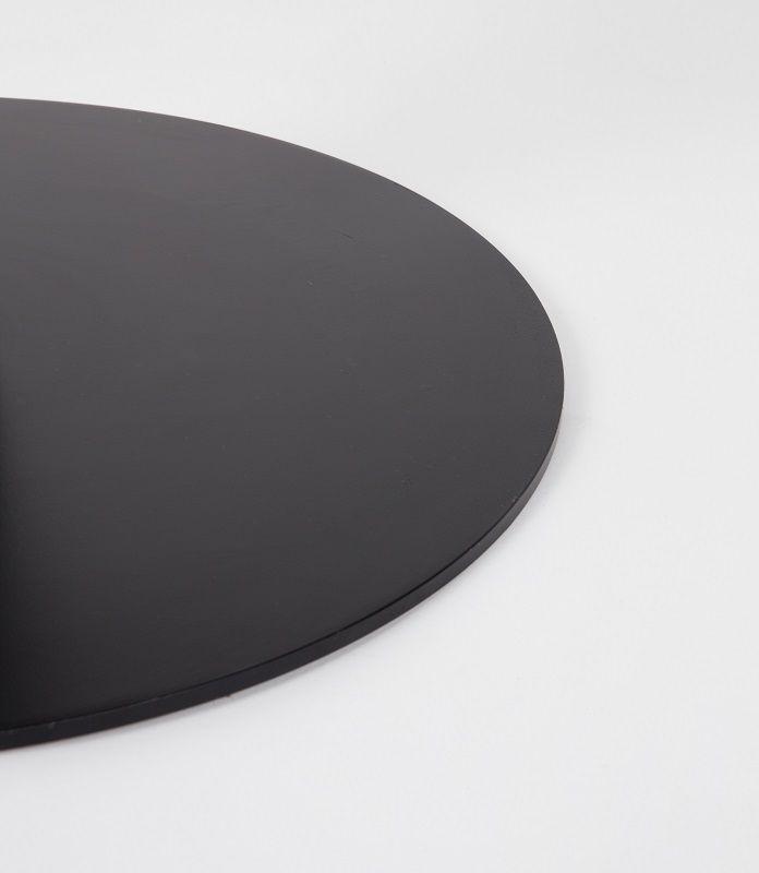 Zuiver King Spisebord - Ø90 cm - Sort Bord med marmor top