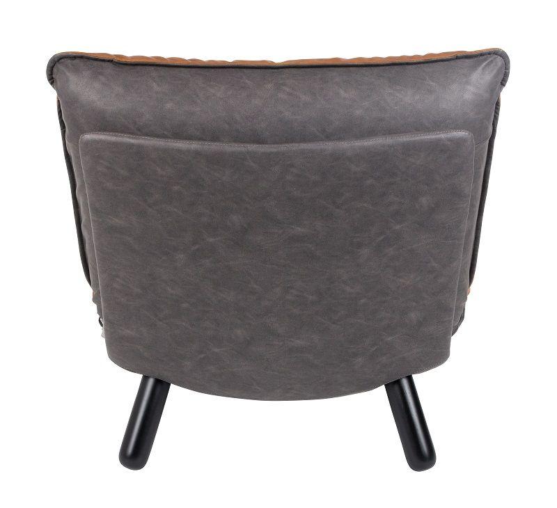 Zuiver - Lazy Sack Loungestol - Brun - Lav loungestol med kunstlæder