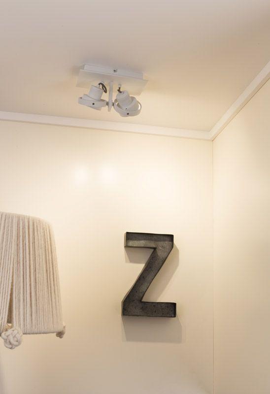 Zuiver - Luci 2 Spotlampe DTW - Hvid - Spotlampe i hvid med 2 spots
