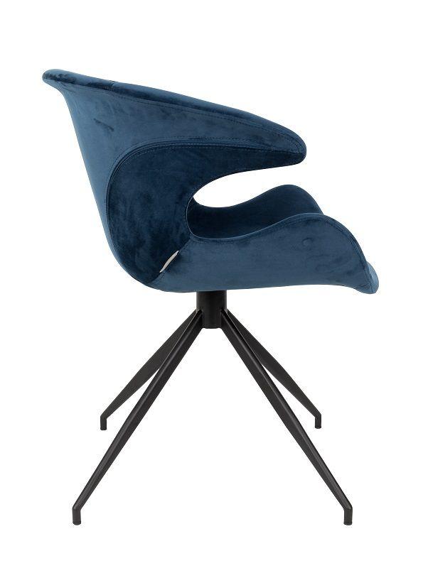 Zuiver Mia Spisebordsstol m/armlæn - Blå