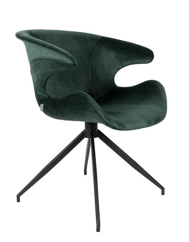 Zuiver Mia Spisebordsstol m/armlæn - Grøn