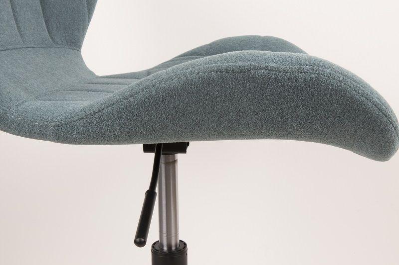 Zuiver - OMG Kontorstol - Blå Stof - Blå kontorstol med sort stel