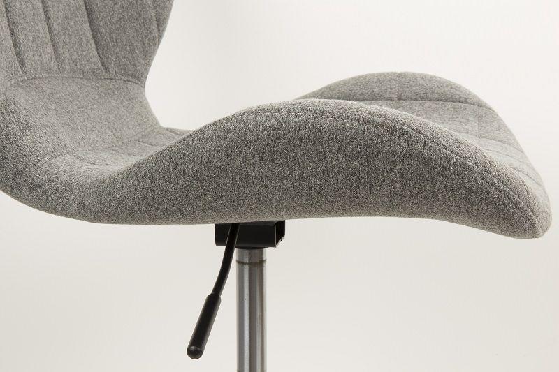 Zuiver OMG Kontorstol - Grå stof - Grå arbeidsstol med svart ramme