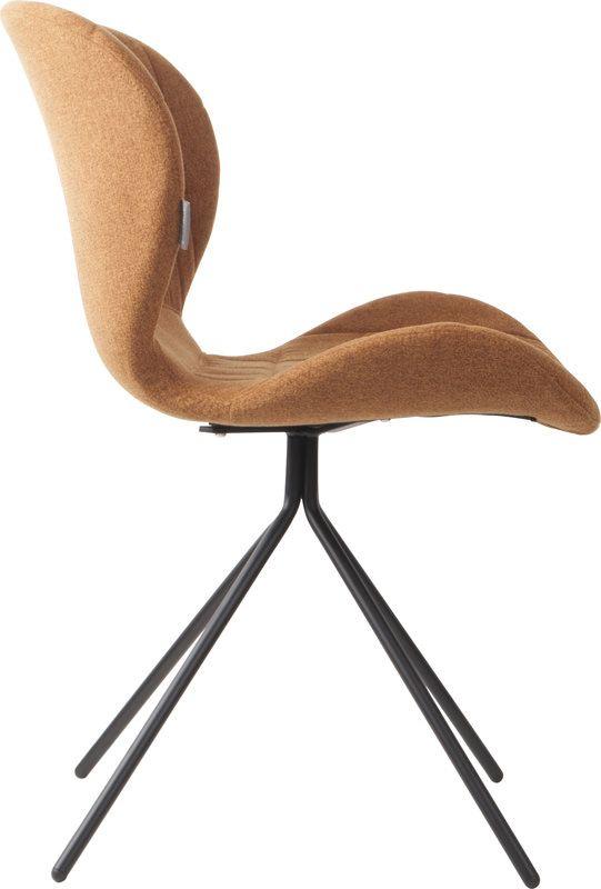OMG Spisebordsstol - Brun - Polstret spisebordsstol i lækkert design og brunt stof