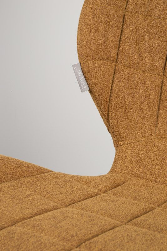 Zuiver OMG Spisebordsstol - Brun stof - Polstret spisestol i lekkert design og brunt stoff