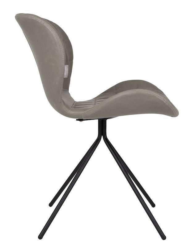 Zuiver - OMG Spisebordsstol - Grå PU læder - Grå spisebordsstol