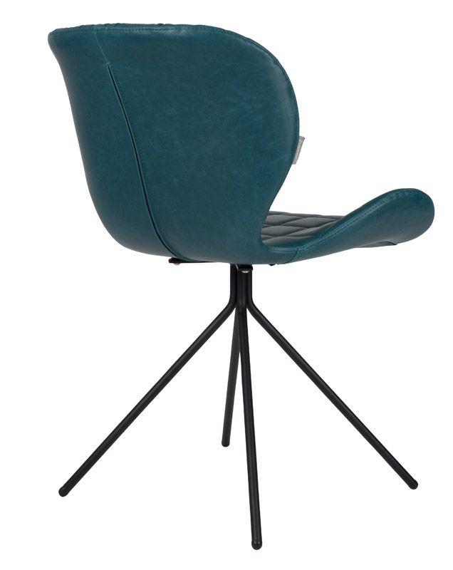 Zuiver OMG Spisebordsstol - Petrol PU læder - Grønn spisestol