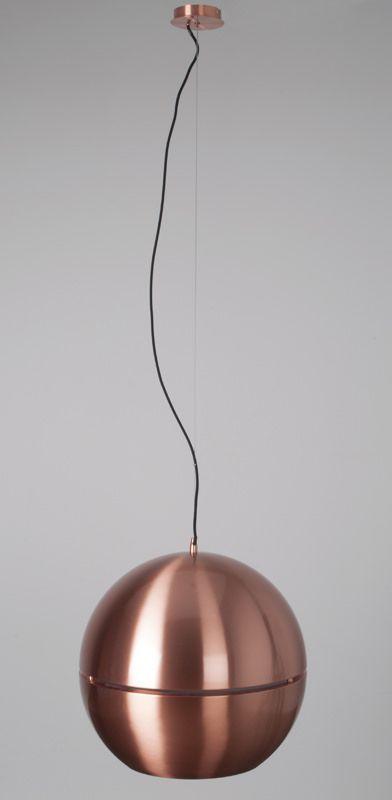 Retro Pendel - Kobber, Ø50 - Stor retro pendel i flot kobber