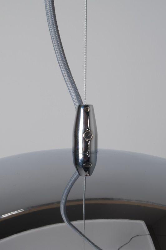 Retro Pendel - Krom, Ø50 - Stor retro pendel i flot metal