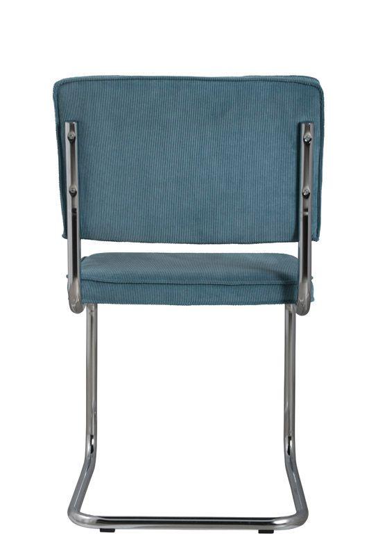 Zuiver - Ridge Spisebordsstol - Blå fløjl - Blå spisestol til spisestuen