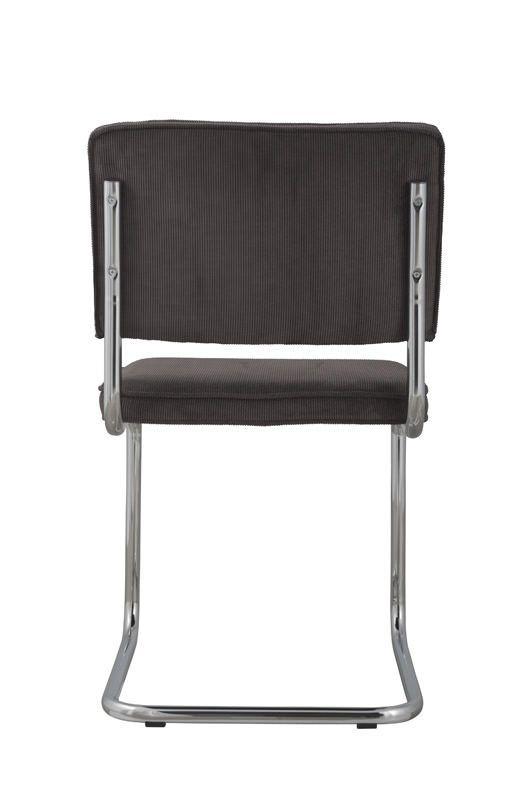 Zuiver - Ridge Spisebordsstol - Grå fløjl - Grå spisestol til spisestuen