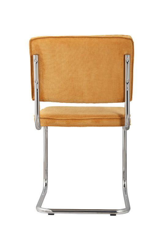 Zuiver - Ridge Spisebordsstol - Gul fløjl - Gul spisestol til spisestuen