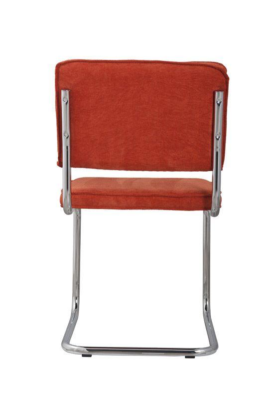 Zuiver - Ridge Spisebordsstol - Orange fløjl - Orange spisestol til spisestuen