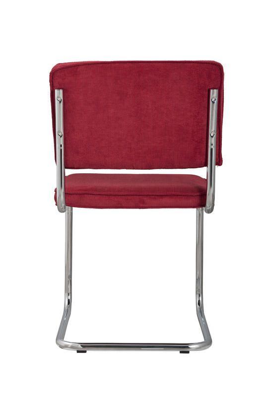 Zuiver Ridge Spisebordsstol - Rød fløjl - Rød spisestol