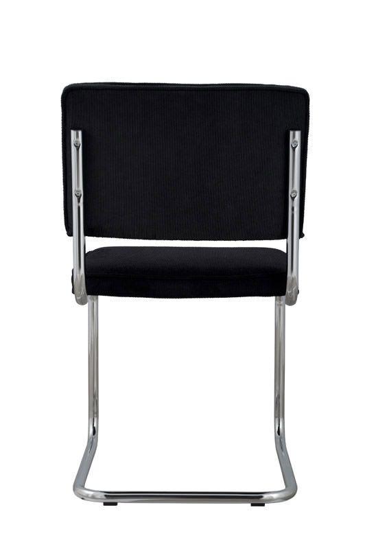 Zuiver Ridge Spisebordsstol - Sort fløjl - Svart spisestuestol