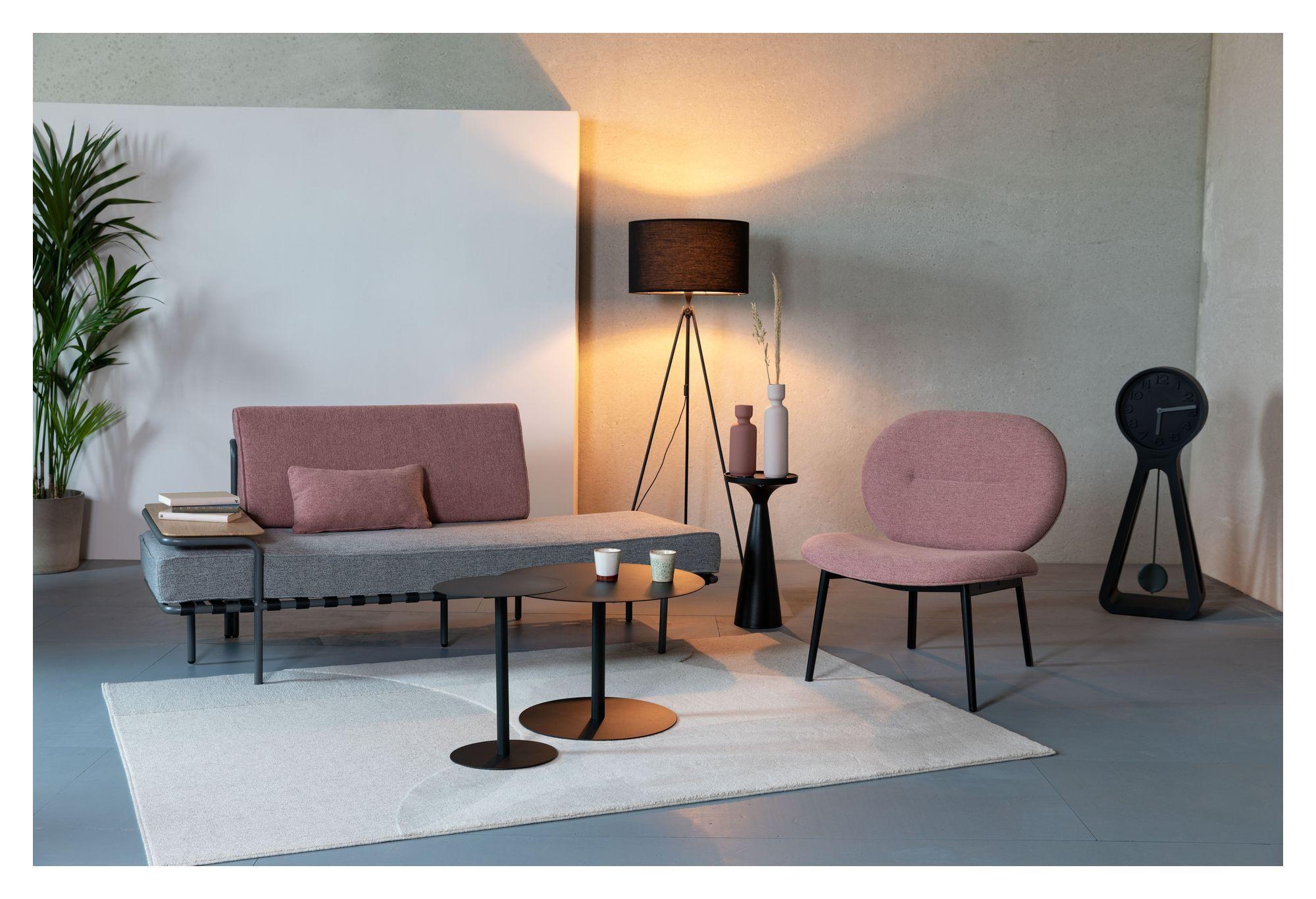 Zuiver Spike Loungestol - Pink/Sort