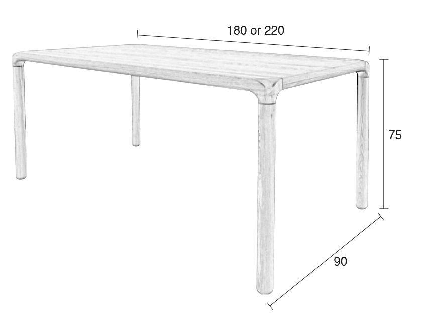 Zuiver Storm Spisebord - Lys Træ - 220 cm