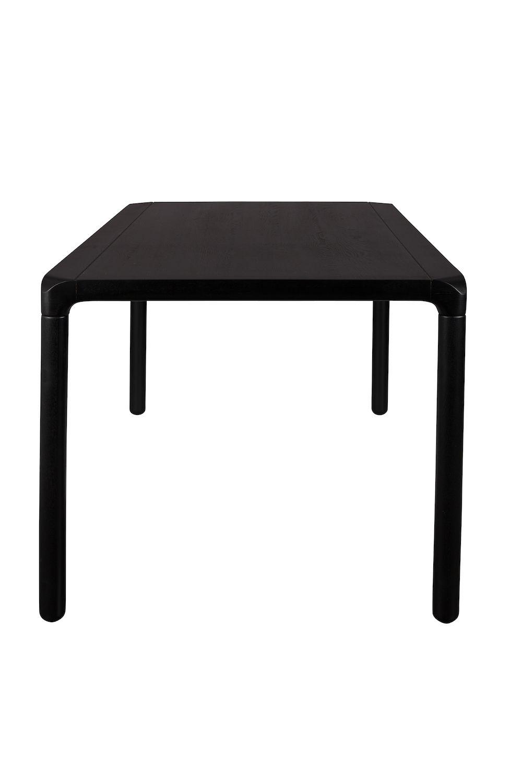 Zuiver - Storm Spisebord - Sort Askefinér - 220 - Sortlakeret spisebord 220 x 90 cm
