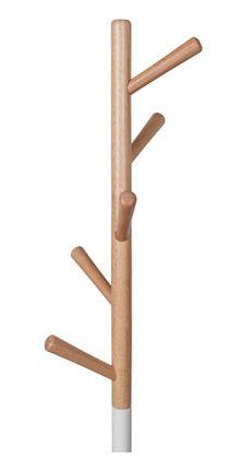 Zuiver Table Tree Stumtjener - Hvid - Funksjonell designer stumtjener i hvitt og lyst tre