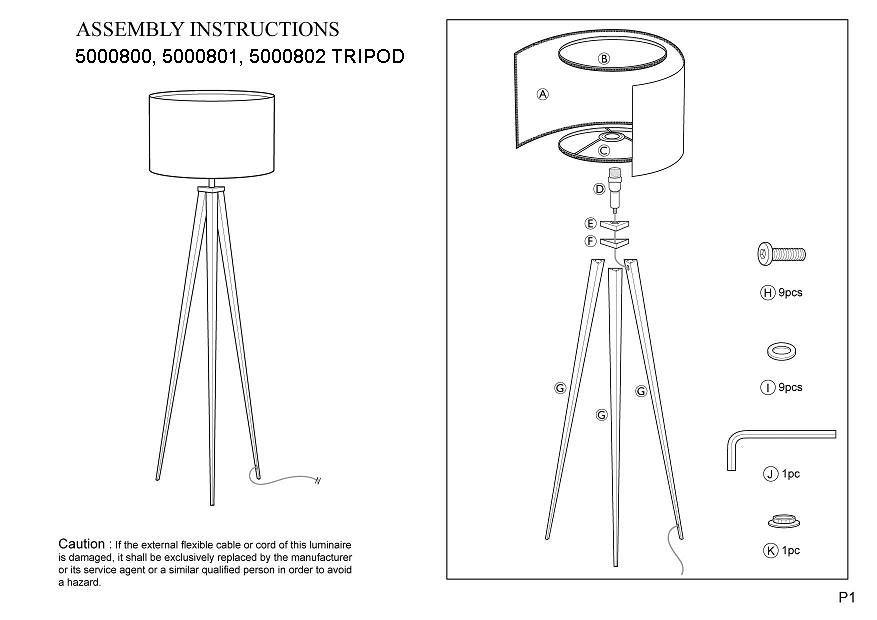 Zuiver - Tripod Gulvlampe - Hvid - Hvid gulvlampe i malet metal
