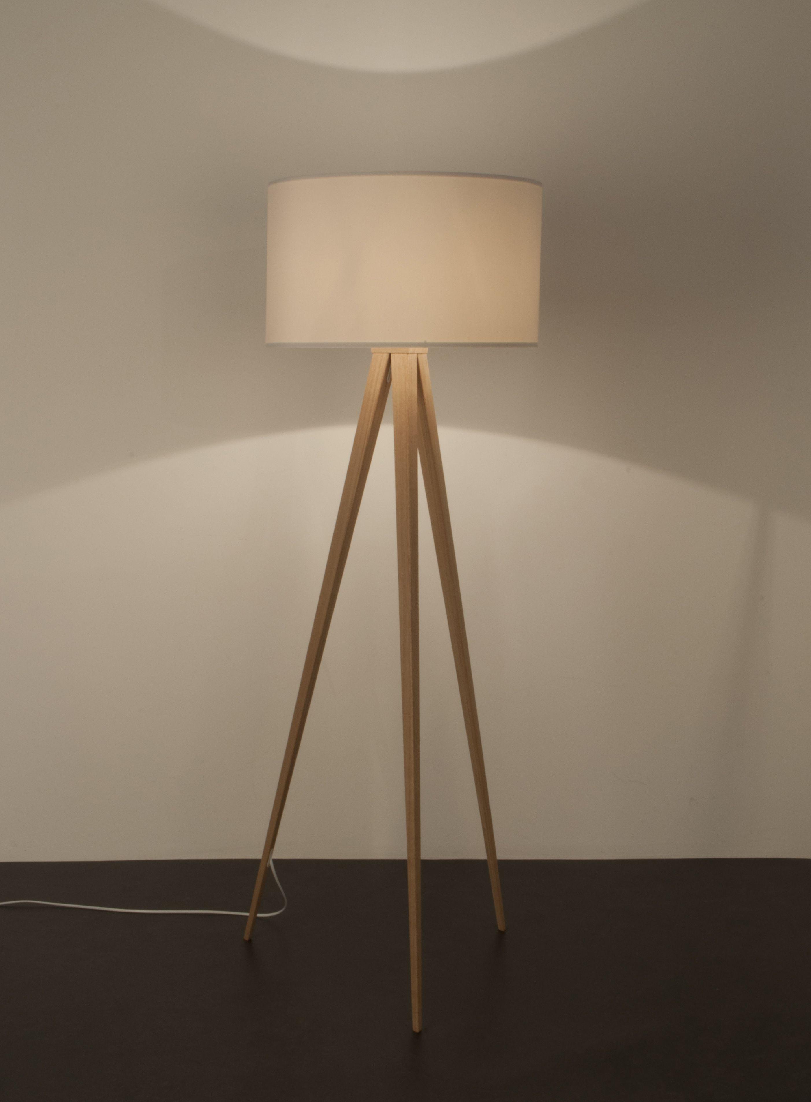 Zuiver - Tripod Wood Gulvlampe - Hvid