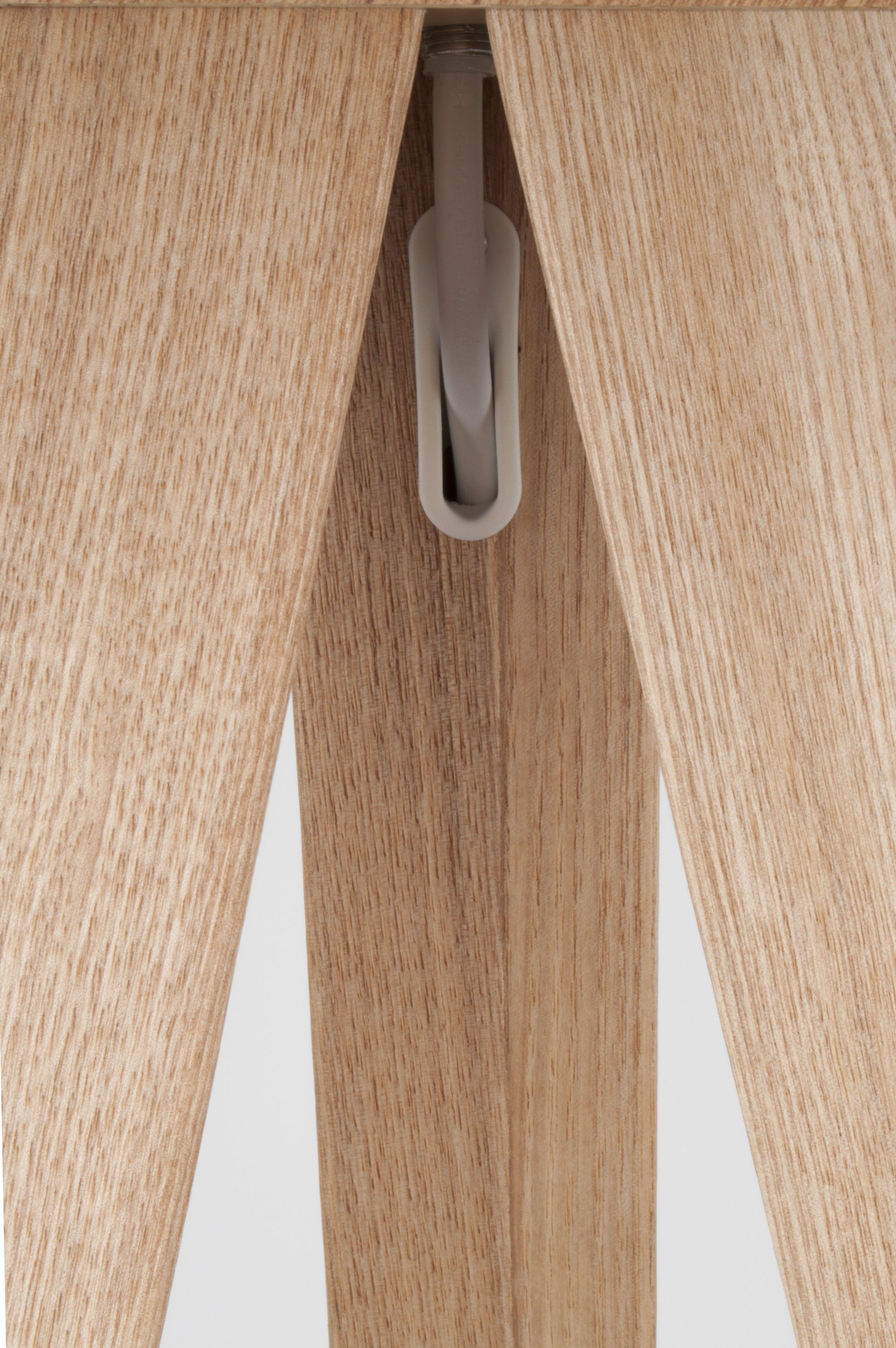 Zuiver - Tripod Wood Gulvlampe - Hvid - Hvid gulvlampe i træfiner