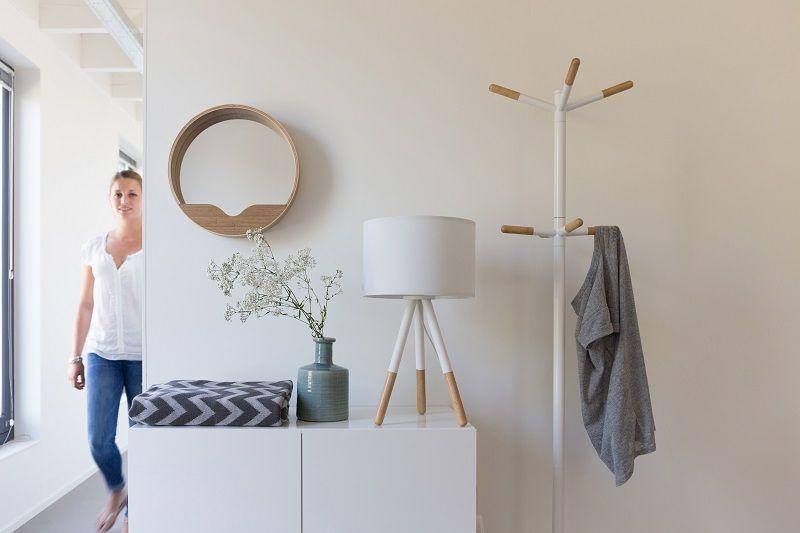 Zuiver Wooden Tip Stumtjener - Hvid - Hvit stumtjener i metall