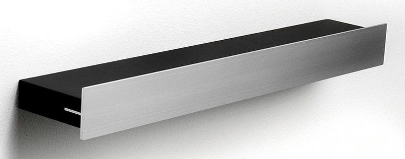 Hoigaard Design Gallerihylde - Sort - GH-38 med aluminiumskant - smal