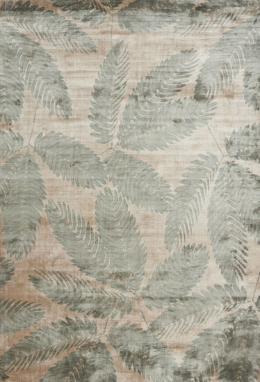 Linie Design Ambrosia Leaf - Viscose tæppe - 170x240 - Tæppe med grønt motiv