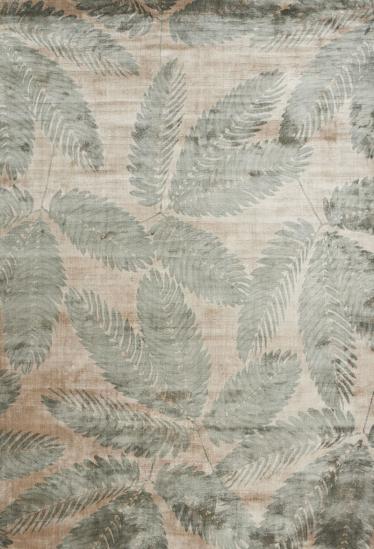 Linie Design Ambrosia Leaf - Viscose tæppe - 200x300 - Tæppe med grønt motiv