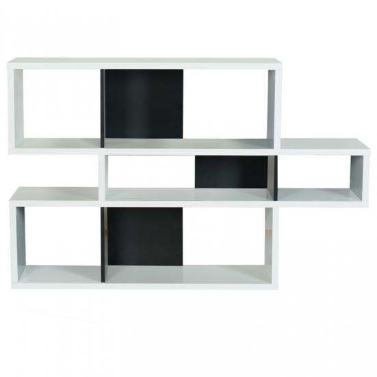 London Reol - Hvid/Sort - Asymmetrisk reol i hvid/sort