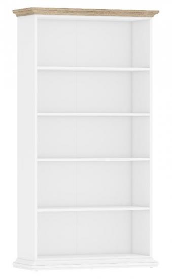 Paris Reol - Hvid/Lys træ m/5 hylder