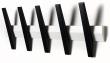 Hoigaard - Tangent 5 Knagerække - Hvid/sort - 5 knager i sort