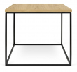 Temahome - Gleam Sidebord - Lys træ m/sort stel 50 cm - Sidebord i honeycomb panel