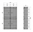 Bunk Garderobeskab m/4 låger - mat sort