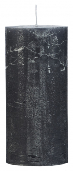 Cozy Living Rustic Stearinlys - Mørk Grå, 7x15