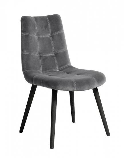 Nordal - Spisebordsstol i grå velour - Spisebordsstol i grå