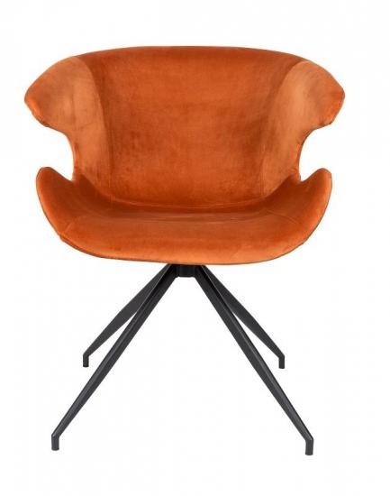 Zuiver Mia Spisebordsstol m/armlæn - Orange