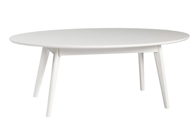 Yumi Sofabord - Hvidmalet træ, L130 - Hvidt sofabord i træ