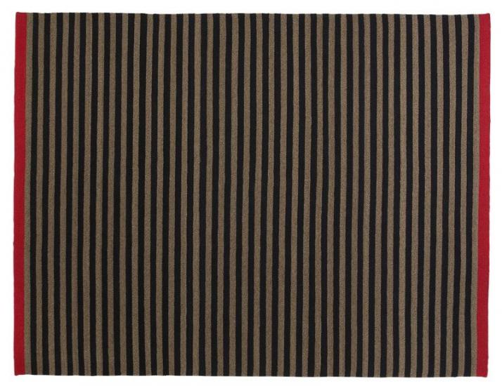 Fabula Rosemary tæppe - Sort/Mauve - Håndvævet Kelim 170x240 cm