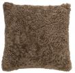 Bloomingville Pude - Nougat - Firkantet pute i brunt saueskinn