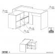 Function Plus Skrivebord - Brun m/reol