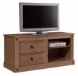 Corona TV-bord - bejdset fyrretræ mørk - Brunt TV- bord
