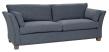 Milton 3-pers. Sofa - blå Uld m. nitter