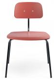 Engelbrechts KEVI 2060 Spisebordsstol, Deep Peach/Sort