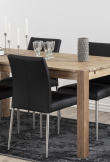 Hjo Spisebordsstol - Sort læder