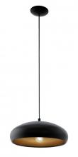 Mogano Pendel - Sort - Sort pendel med kobberfarvet inderside