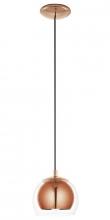 Rocamar - Kobber Pendel - Ø19 - Elegant og moderne loftlampe i glas og kobber