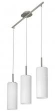TROY 3 Pendel - Pendel med 3 hvide glasskærme